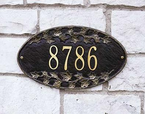 Whitehall   Ivy Oval  Address Plaque