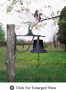 Whitehall Large Bell w/ Duck Colored Ornament