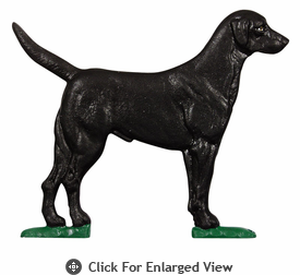 Whitehall Large Country Bell with Black Lab Ornament