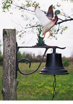 Whitehall  Large Country Bell  with Duck Ornament