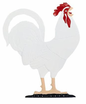 Whitehall  Large Country Bell  with Rooster Ornament