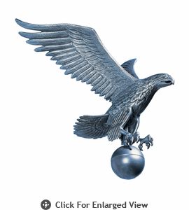 Whitehall Large Flagpole Eagle Pewter