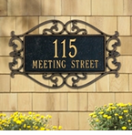 Whitehall   Lewis Fretwork  Address Plaques