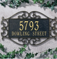 Whitehall  Lewis Fretwork Standard  Address Plaques
