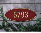 Whitehall   Madison Oval  Address Plaques
