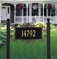 Whitehall Mears Fretwork Estate Lawn Plaque One Line