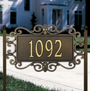 Whitehall Mears Fretwork Standard Lawn Plaque One Line