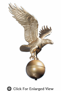 Whitehall Medium Flagpole Eagle Gold Bronze