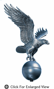 Whitehall Medium Flagpole Eagle Pewter