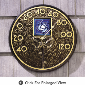 Whitehall Minutes & Degrees™ Blue Dard Hunter Rose Thermometer French Bronze