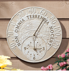 Whitehall  Minutes & Degrees™   Fossil Celestial Thermometer Clocks