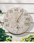 Whitehall  Minutes & Degrees™   Fossil Sumac Thermometer Clocks