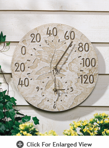 Whitehall Minutes & Degrees�  Fossil Sumac Thermometer Clocks
