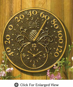 Whitehall Minutes & Degrees� Pineapple Thermometer Clocks