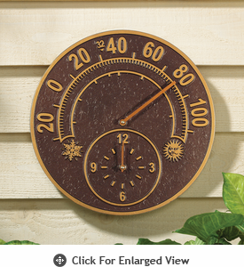 Whitehall Minutes & Degrees� Solstice Thermometer Clock