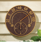 Whitehall  Minutes & Degrees™  Solstice Thermometer Clock