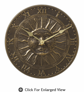 Whitehall Minutes & Degrees� Sunface Clock French Bronze