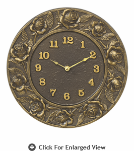 Whitehall Minutes & Degrees™ Verdigris Rose Thermometer or Clock