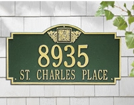 Whitehall  Monogram Address Plaques