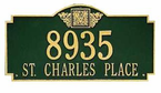 Whitehall  Monogram Estate  Address Plaques