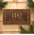 Whitehall  Oakleaf Standard  Address Plaques