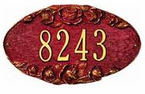 Whitehall  Oval Address Plaques