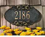 Whitehall   Pansy Oval   Address Plaque