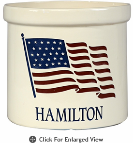 Whitehall Personalized 2 Gallon Ceramic American Heritage