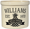 Whitehall Personalized 2 Gallon Ceramic Pineapple Welcome Crock