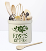 Whitehall Personalized 2 Gallon Ceramic Rose Stem Crock Version B