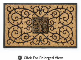 Whitehall Personalized Coir Monogram Mat  Black