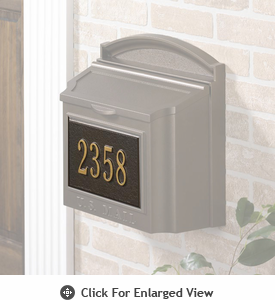 Whitehall  Personalized Wall Mailbox  Plaque Only One Line French Bronze