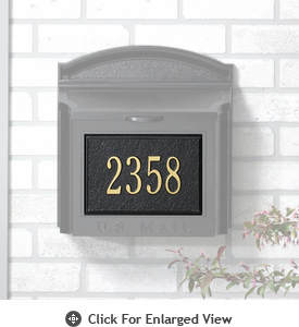 Whitehall  Personalized Wall Mailbox  Plaque Only Two Lines Black