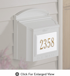 Whitehall  Personalized Wall Mailbox Plaque Only Two Lines White