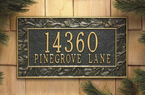 Whitehall   Pinecone Address Plaques