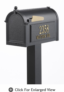 Whitehall  Premium Mailbox Package Black