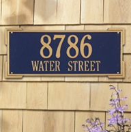 Whitehall Roanoke Estate Wall Plaque Two Lines