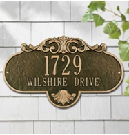 Whitehall Rochelle Grande Address Plaques