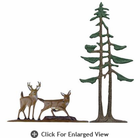 "Whitehall Rooftop or Garden 30"" Deer & Pines Weathervanes"