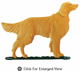 "Whitehall  Rooftop or Garden 30"" Golden Retriever Weathervanes"