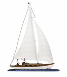 "Whitehall   Rooftop or Garden  30"" Sailboat Weathervanes"