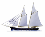 "Whitehall   Rooftop or Garden  30"" Schooner Weathervanes"