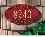 Whitehall   Rose Oval  Address Plaque