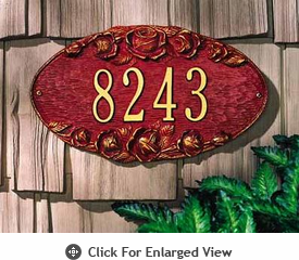 Whitehall Rose Oval Standard Wall Plaque One Line