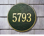Whitehall  Round Address Plaques