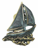 Whitehall Sailboat Solid Brass Door Knocker