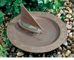 Whitehall  Sailboat Sundial Birdbaths