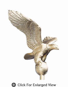 Whitehall Small Flagpole Eagle Gold Bronze