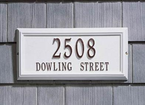 Whitehall   Springfield Rectangle  Address Plaques