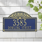 Whitehall  Sunburst Address Plaques